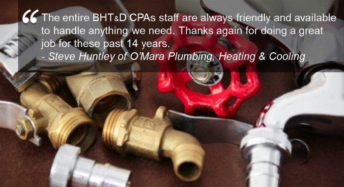 Industries served by BHT&D CPAs