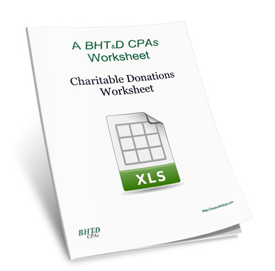 charitable donations value worksheet by bht d cpas