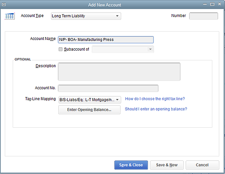 how to change a bank account name on quickbooks