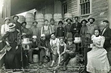 Ada MI Basket Factory 1916 (Ada Village Facebook)