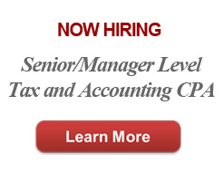 Now Hiring Staff Tax and Accounting CPA